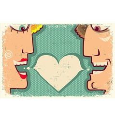 Lovers Speaking and bubble for text vector image