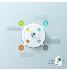 Modern infographics options banner with 4-options vector image