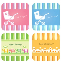newborn baby card vector image