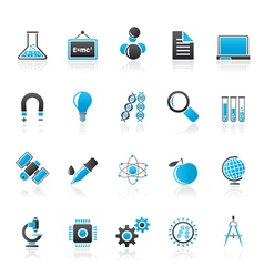 Science Research and Education Icons vector image vector image