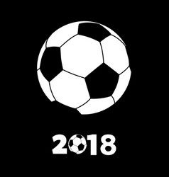 soccer football silhouette with 2018 vector image vector image