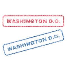 washington dc textile stamps vector image vector image