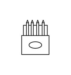 colored pencils icon vector image vector image