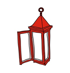 A view of lamp vector image