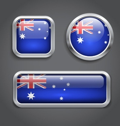Australia flag buttons vector image vector image