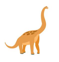 brachiosaurus dinosaur of jurassic period vector image vector image