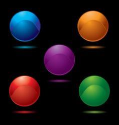 button glow multi vector image