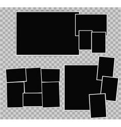Photo album composition vector image vector image