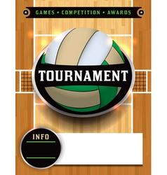 Volleyball tournament flyer vector