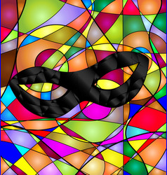 Abstract colored background with mask vector