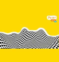 abstract op art yellow orange vector image