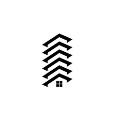 abstract rohouse building logo vector image