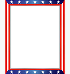 American flag decorative border vector
