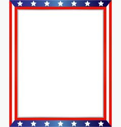 american flag decorative border vector image