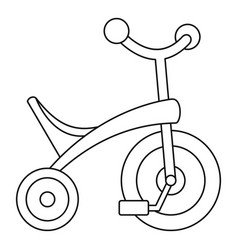 Baby tricycle icon outline style vector