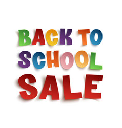 Back to school sale background vector