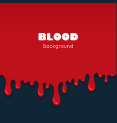 background with drips of blood vector image