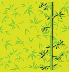 Bamboo branches vector