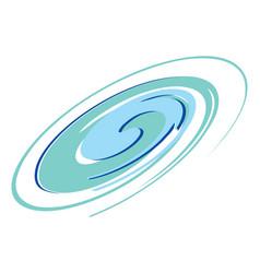 blue swirl graphic element vector image