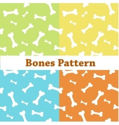 Bones pattern colorful background with bones vector