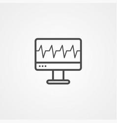cardiogram monitor icon sign symbol vector image