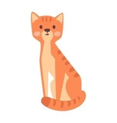 Cartoon cat pet animal vector