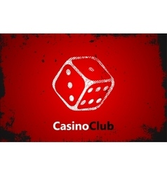 Casino logo Dice logo Casino club poster vector image