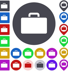 Color briefcase icon set vector image
