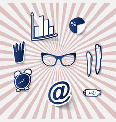 Contact us icons simple flat icons set on white vector