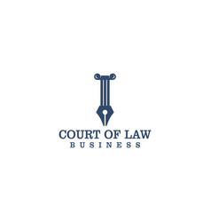Court law logo design for lawyer vector