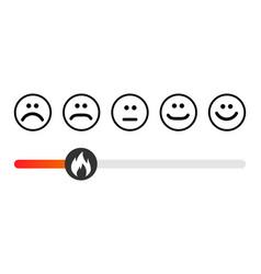 Customer icon emotions satisfaction meter vector