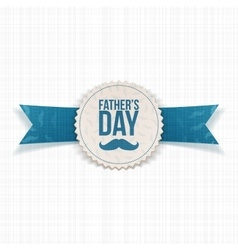 Fathers Day greeting Banner with Ribbon and Text vector