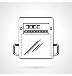 Flat line counter icon vector image