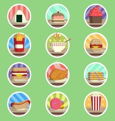 Food Menu Flat Icon vector