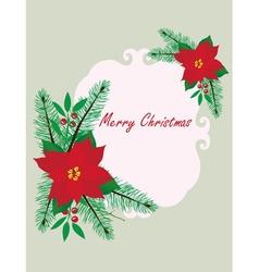 frame Christmas vector image