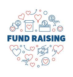 fund raising round creative outline vector image