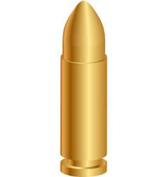 gold bullet vector image
