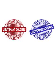 Grunge lieutenant colonel textured round vector