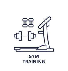 gym training line icon concept gym training vector image