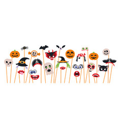 halloween photo booth props and scrapbooking vector image