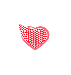 heart full little hearts set logo design vector image