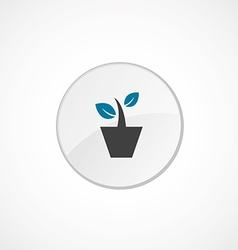 houseplant icon 2 colored vector image