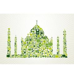 India go green concept vector
