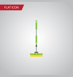 isolated broom flat icon equipment element vector image