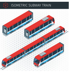 Isometric subway train vector