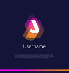 j-monogram-logo vector image