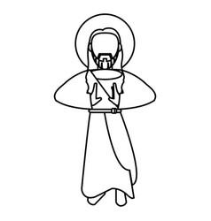 Jesus christ sacred spirituality outline vector