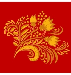 Khokhloma decorated hand-drawn ornament vector image