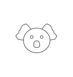 koala head line icon outline sign linear vector image