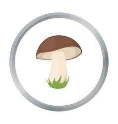 Mushroom icon in cartoon style for web vector image